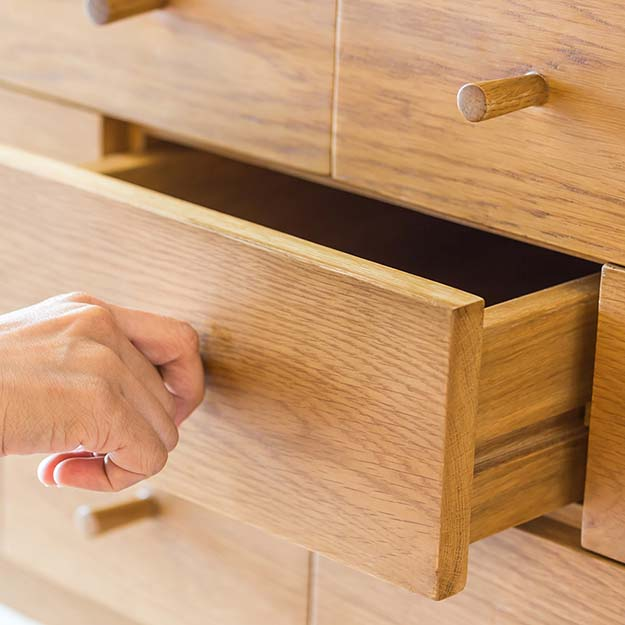 wood dresser drawer