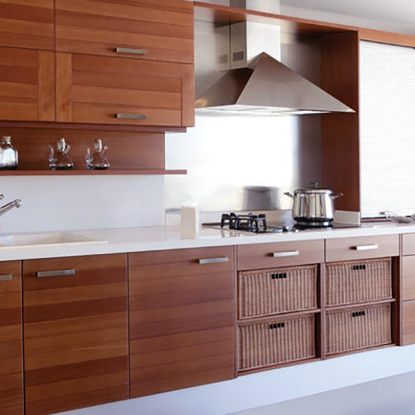 modern kitchen wood cabinets